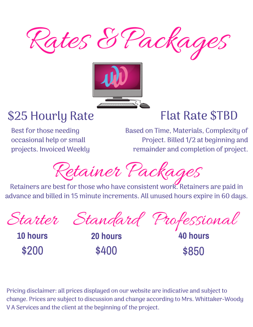 25Rates and Packages